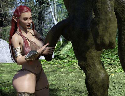 [3D Porn Comic] [SergeantBuck] A Stroll In The Woods [monster]