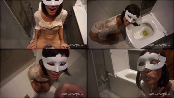 Piss And Cum Licking In The Bathroom - BruceAndMorgan (212 MB)