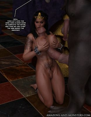 [3D Porn Comic] [Amazons-vs-Monsters] Victorious in Defeat Part 1-8 [rape]