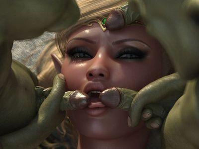 [3D Porn Comic] [HitmanX3Z] Rapefield - Bad Goblins [rape]