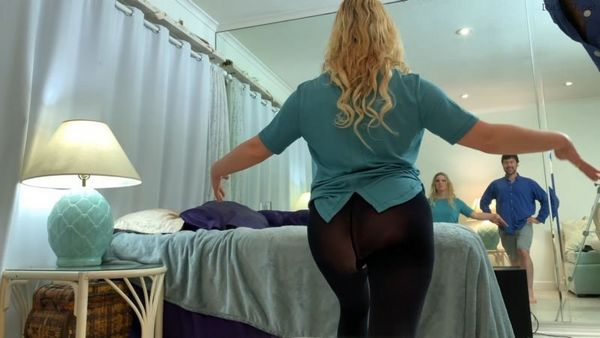 Son Helps Mom Make An Exercise Video – Erin Electra 4K